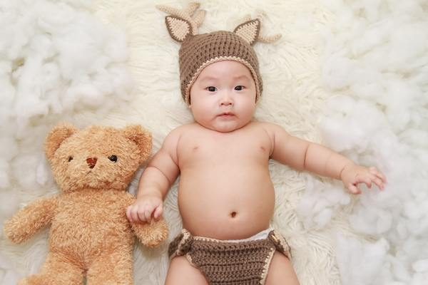 Adorable baby beanie 421879 thumb